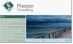 Preston Consulting website by Zap IT Website Development Perth WA